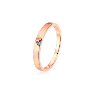 3mm Round Topaz/Garnet Wedding Ring for Women